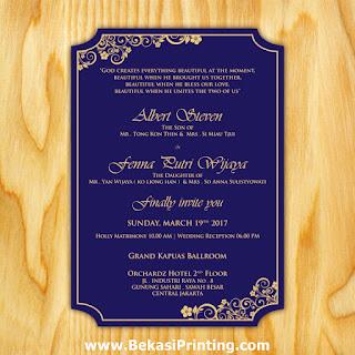 Undangan Pernikahan Albert & Fenna