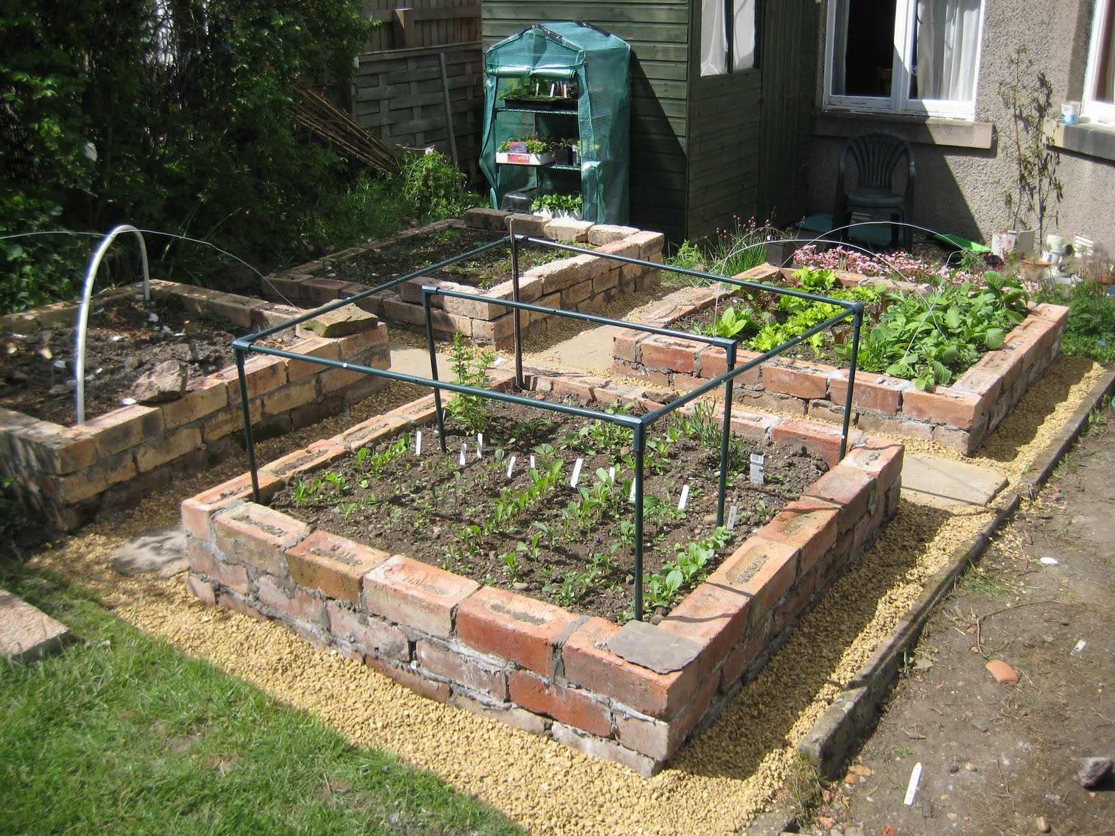 Gardens Raised: Mal's Allotment: Brick Raised Beds Update