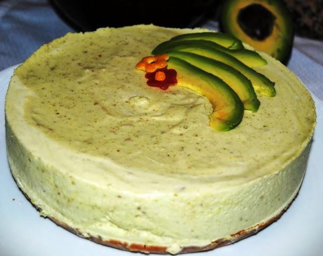 Tarta de Galletas con Aguacate