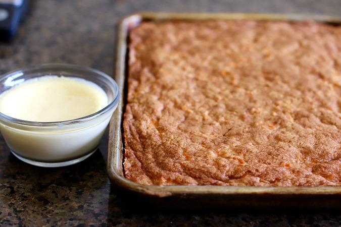 carrot cake and liquid cheesecake