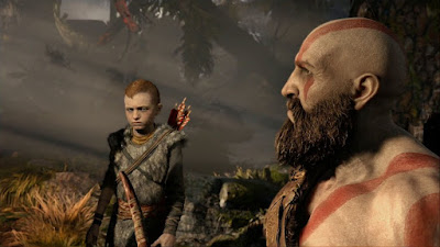 God of War 4 Stor: Kratos is teaching his son how to hunt
