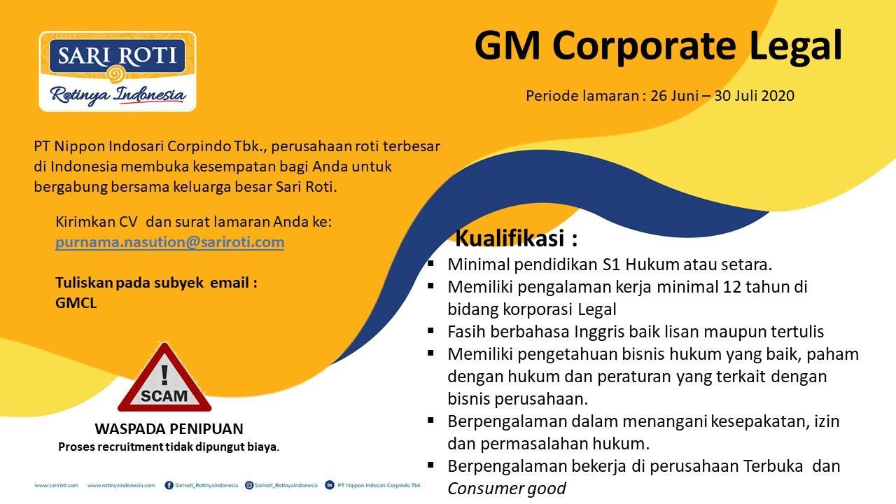 Lowongan Kerja PT Nippon Indosari Corpindo Tbk Bulan Juli 2020