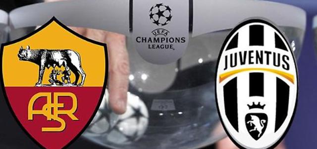 Champions League: questa sera in campo Roma e Juve