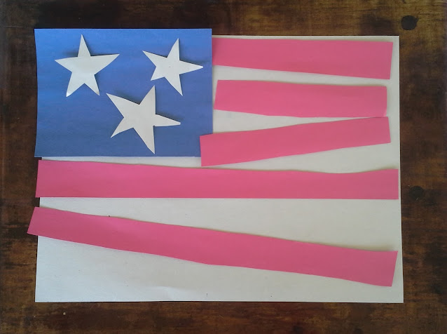 Celebrate Flag Day, the Fourth of July, Veterans Day, or Memorial Day with some arts and crafts and the book F is for Flag Wendy Cheyette Lewison.