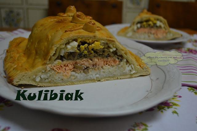 pastel ruso de salmón