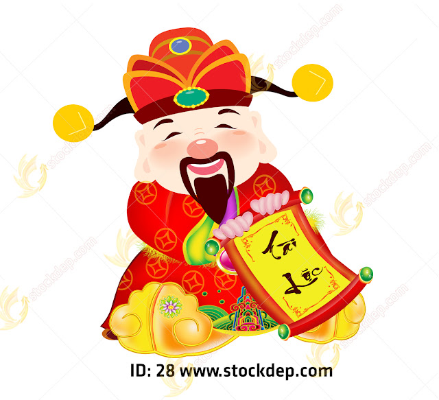 Chinese god of prosperity design s