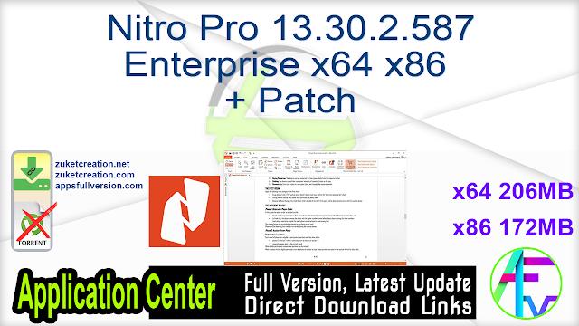 Nitro Pro 13.30.2.587 Enterprise x64 + Patch