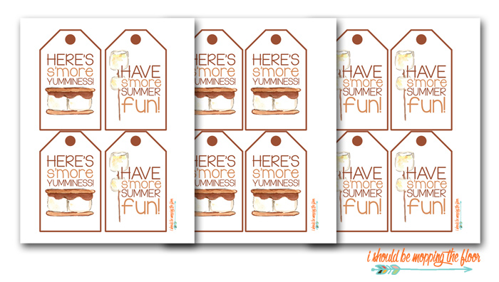 S'more Kit Gift Tags to Print