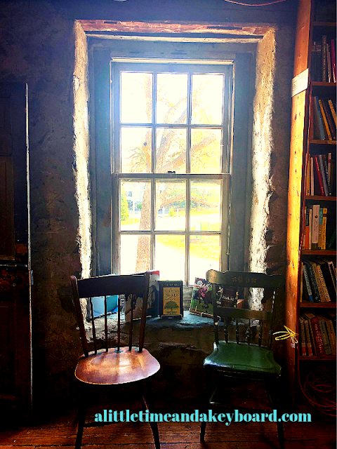 Lovely and charming window seat at Baldwin's Book Barn in West Chester, Pennsylvania