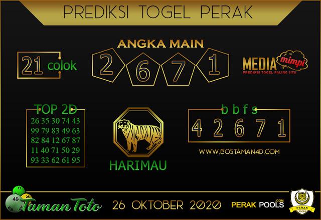 Prediksi Togel PERAK TAMAN TOTO 26 OKTOBER 2020