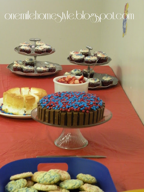 Red & Blue Birthday Party Sweets
