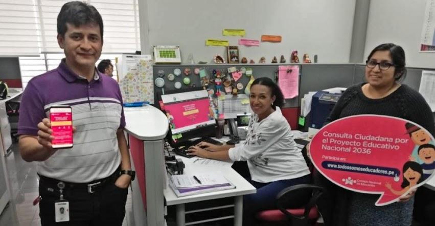 MINEDU se sumó al reto «Todos Somos Educadores» por el Proyecto Educativo Nacional al 2036