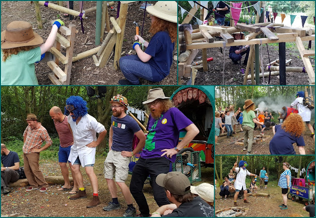 Sunday Timber Festival Review Professor Pumpernickel science and humour and Hammer and chisel childrens wood workshop