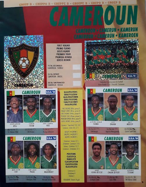 USA '94 WORLD SOCCER CHAMPIONSHIP GROUP B CAMEROUN