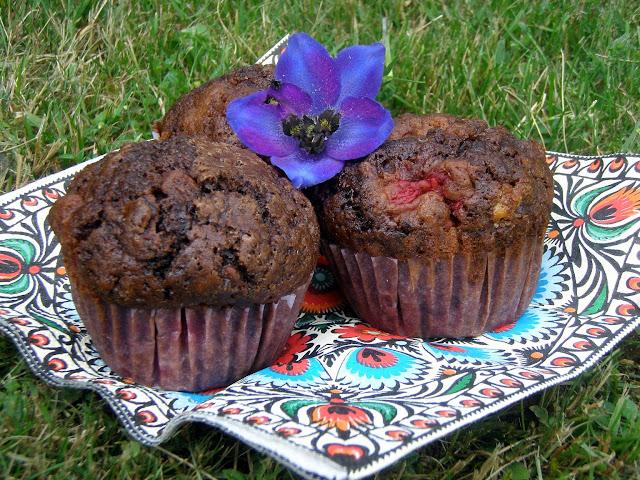 mufi Muffiny czekoladowe z malinami