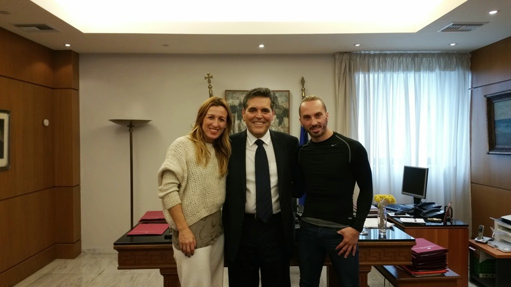 Τον Υφυπουργό Παιδείας και Θρησκευμάτων Αλέξανδρο Δερμεντζόπουλο  επισκέφθηκαν οι Ολυμπιονίκες Χρυσοπηγή Δεβετζή και Ιωάννης Μελισσανίδης. cf36e3ec344