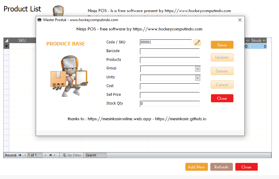 free point of sale software download