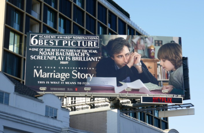 Noah Baumbach Marriage Story Oscar billboard