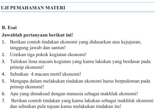 Jawaban Esai Uji Kompetensi Bab 3 Halaman 190 Ips Kelas 7 Aktivitas Manusia Dalam Memenuhi Kebutuhan Bastechinfo