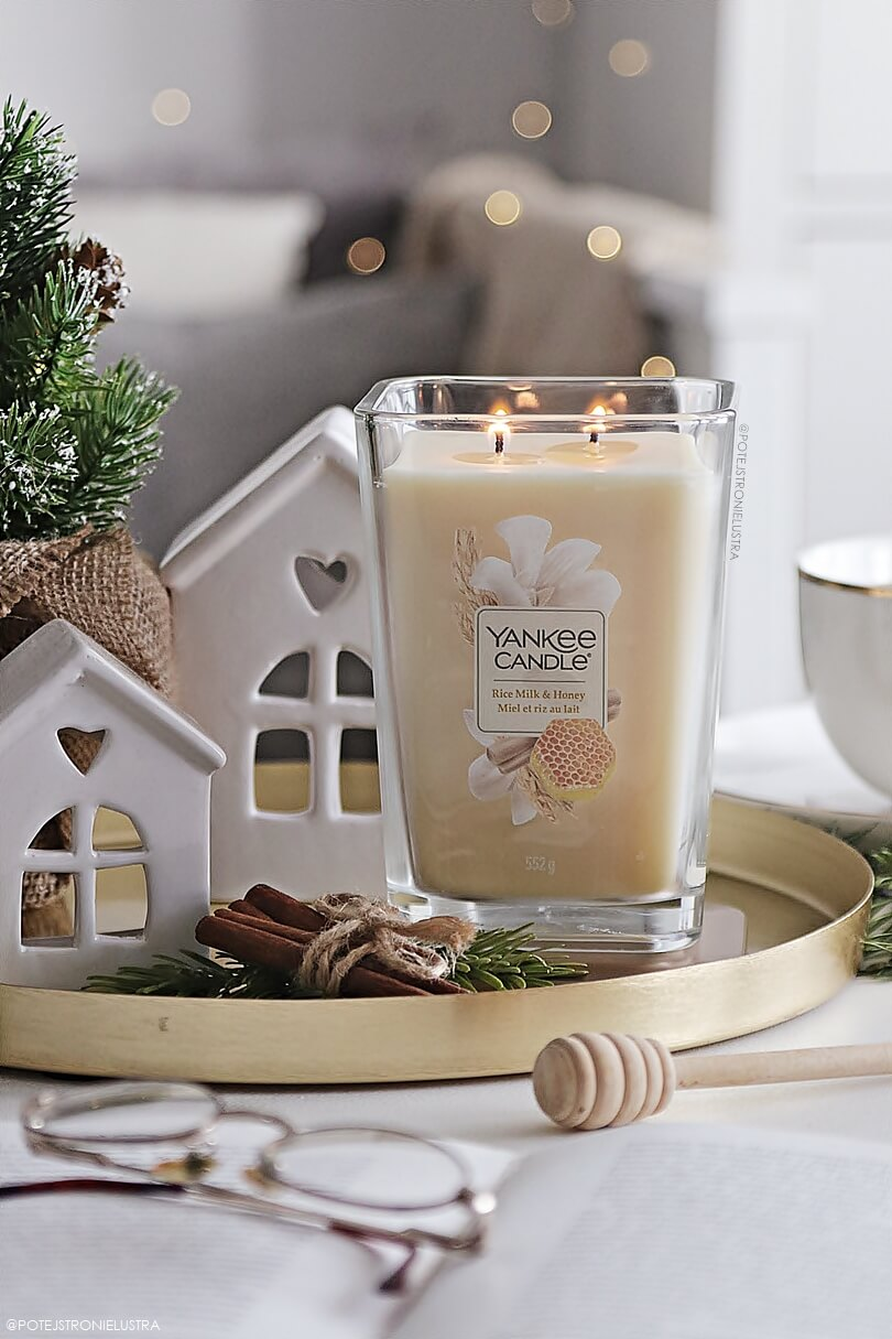 świeca yankee candle rice milk and honey recenzja na blogu