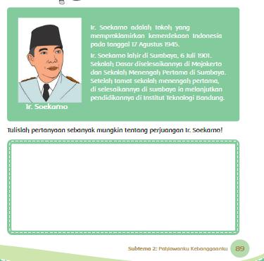 Kunci Jawaban Tema 5 Kelas 4 Halaman 89