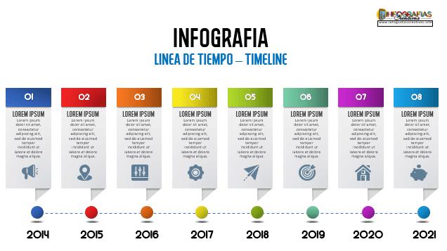 Plantilla para linea de tiempo diseño 18