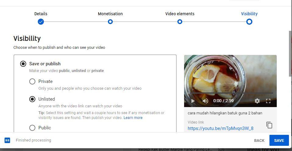 cara nak tahu video terkena copyright