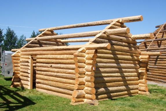 plan de maison en bois rond