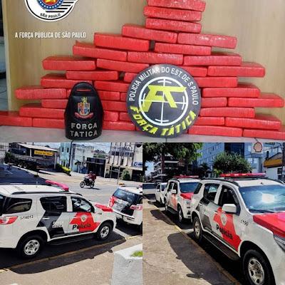 POLÍCIA MILITAR PRENDE CASAL EM REGISTRO-SP COM APROXIMADAMENTE 28 QUILOS DE DROGAS