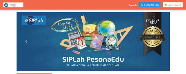 https://siplah.pesonaedu.id/ Alamat Website Aplikasi SIPLah PesonaEdu