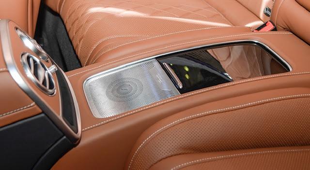 Mercedes S450 4MATIC Coupe 2019 sử dụng Hệ thống âm thanh vòm Burmester® high-end 3D 24 loa