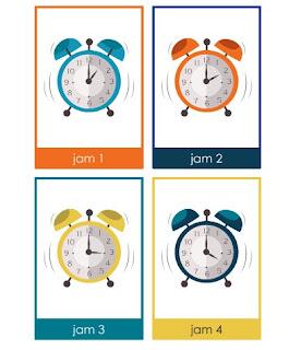 Buku Mengenal Waktu Dan Jam PAUD