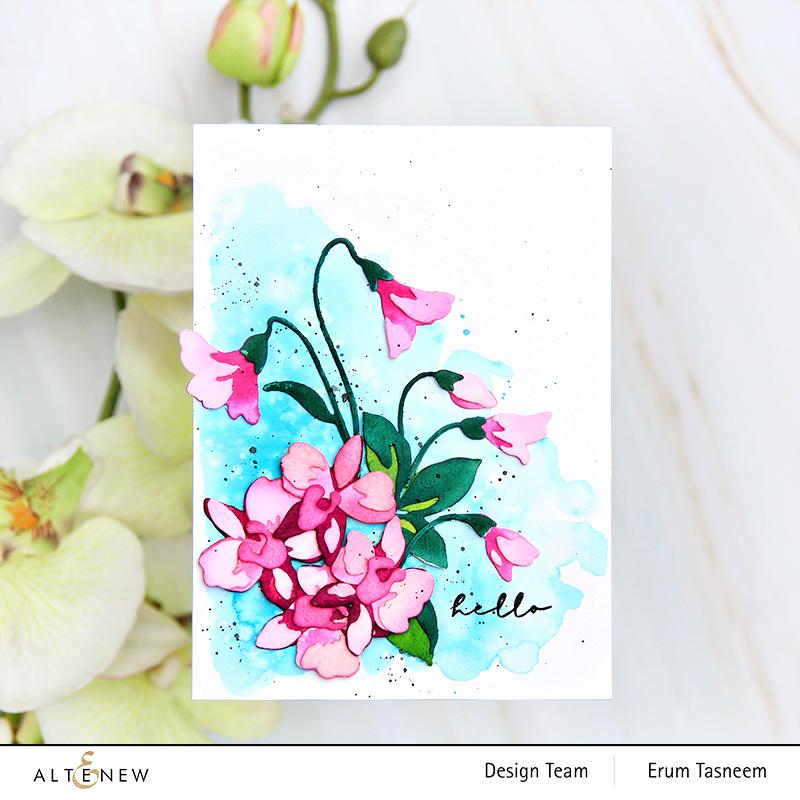 Altenew oCraft-A-Flower: Dendrobium Orchid Layering Die Set | Erum Tasneem | @pr0digy0
