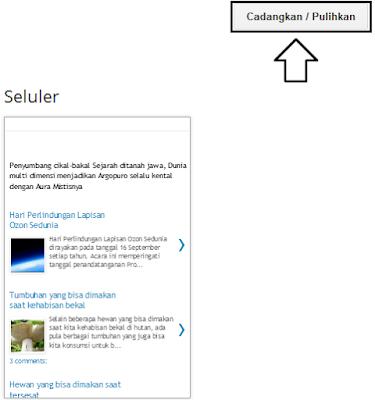 Cara mudah mengganti template blog