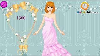 Chơi game thời trang cô dâu thú vị