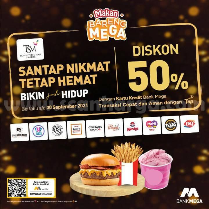 Trans Studio Mall Cibubur Promo Diskon 50% Makan Bareng Mega