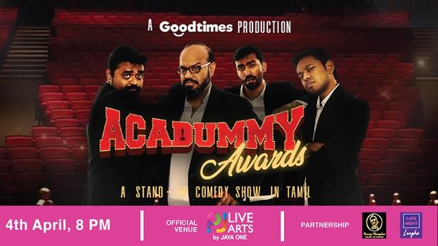 Late Night Laughs, The Square by Jaya One, Stand-up comedian, stand-up comedy, Super Sabah, Acadummy Awards by India's best-established quartet Praveen Kumar, Jagan Krishnan, Mervyn Rozario, Manoj Prabakar