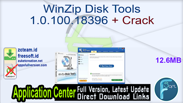 WinZip Disk Tools 1.0.100.18396 + Crack