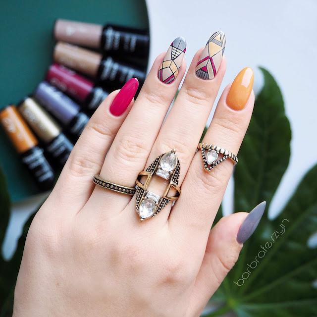 Azteckie zdobienie paznokci