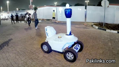 Police robots took to the streets to alert people in Qatar