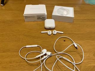 Appleの『AirPods』と純正イヤホン