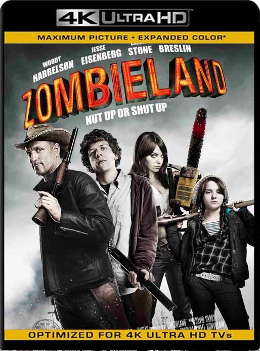Zombieland – Tierra de Zombies (2009) 4K 2160p UHD [HDR] Latino [GoogleDrive]