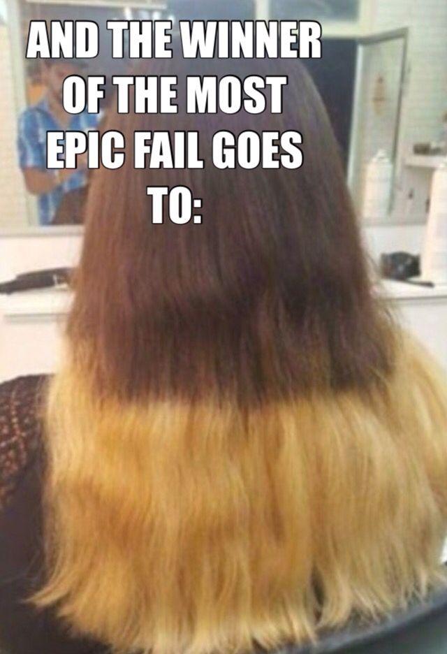 Ombre hair epic fails  OMG Love Beauty