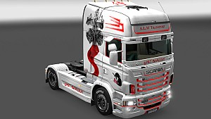 Scania RJL Mushashi Last Samurai skin