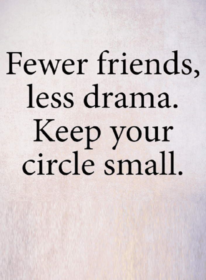 The Smaller You Keep Your Circle The Less Problems You Deal With