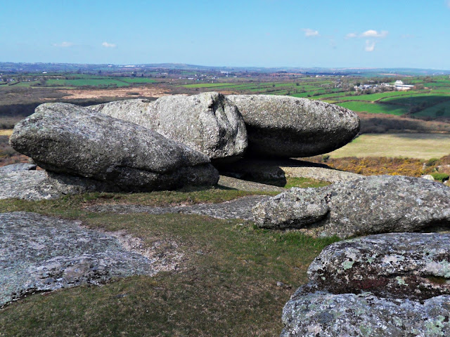 Helman Tor granite rocks and boulders