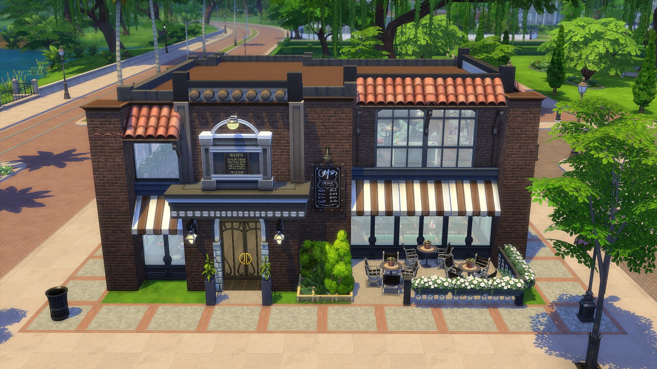 Sims 4 cafe lot