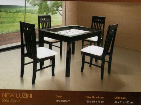 Mahkota Baru Furniture Meja Makan Besi Mewah Dan Kayu Minimalis