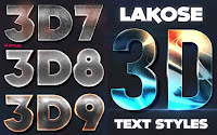 3d text styles photoshop