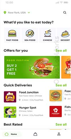 Multi restaurant food ordering app
